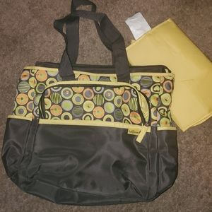 baby boom diaper bag w/ changing pad